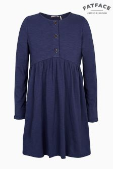 FatFace Blue Grace Plain Dress
