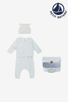Petit Bateau dreiteiliges Outfit-Set, Blau