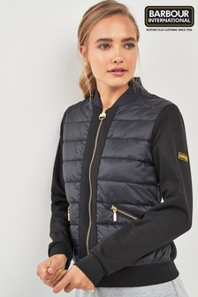 Barbour® International Black Hybrid Whitham Sweat Jacket