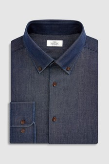 Button Down Collar Slim Fit Shirt