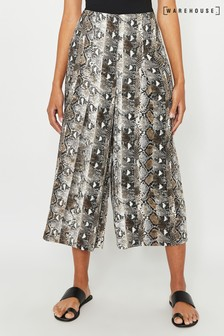 Warehouse Grey Snake Culotte