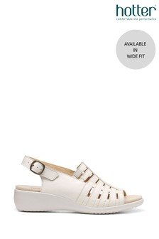 Hotter Rosella Wide Fit Buckle Fastening Wedge Sandals