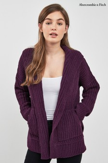 Abercrombie & Fitch Purple Chenille Cardigan