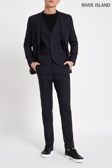 River Island Navy Ford Suit Set Trouser