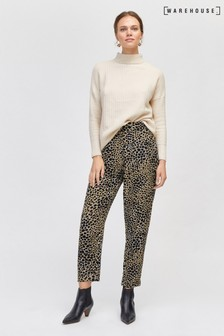 Warehouse Camel Cheetah Trouser