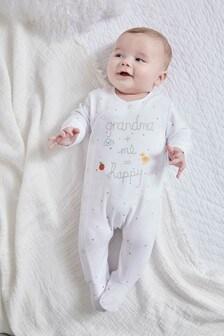 Grandma Slogan Embroidered Sleepsuit (0-18mths)