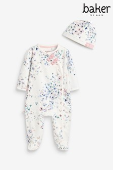 Baker by Ted Baker Floral Sleepsuit And Hat