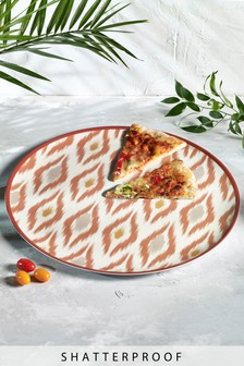 Ikat Patterned XL Melamine Platter