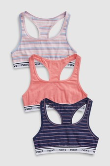 Stripe Racer Back Crop Tops Three Pack (Older)