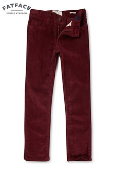 FatFace Deep Red Five Pocket Cord Trouser