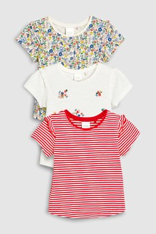 Short Sleeve T-Shirts Three Pack (3mths-7yrs)