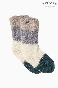 FatFace Green Soft Stripe Bed Socks