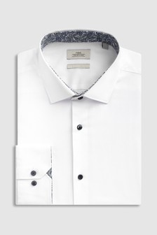 Slim Fit Shirt With Floral Trim