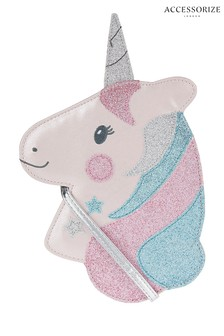 Angels by Accessorize Pink Sparkle Unicorn Cross Body Bag