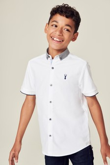 Short Sleeve Check Collar Shirt (3-16yrs)