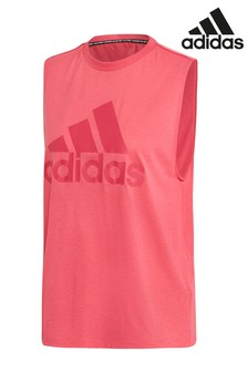 adidas Pink Must Have Badge Of Sport Tank Top
