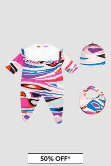 Emilio Pucci Baby Pink Sleepsuit