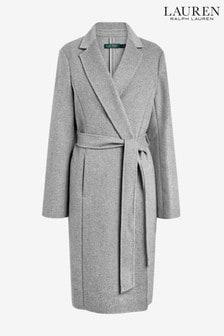 Lauren Ralph Lauren® Grey Wrap Wool Coat