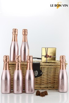 Le Bon Vin Pink And Sparkly Rosé Hamper