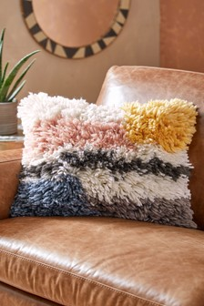 Tufted Colourblock Cushion