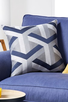 Optical Geo Jacquard Cushion