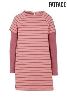 FatFace Dusky Pink Tia Stripe Dress