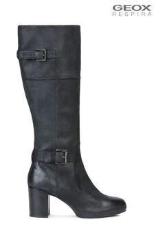 Geox Women's Aneeka Black Boots