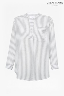 Great Plains White Malibu Stripe Shirt