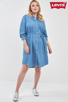 Levi's® Plus Bebe Denim Shirt Dress
