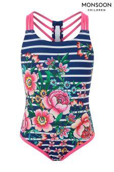 Monsoon Amiya Stripe Swimsuit