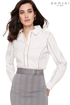 Damsel In A Dress White Roya Trim Detail Shirt