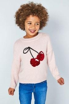 Sequin Cherry Jumper (3-16yrs)