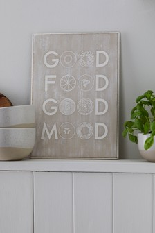 Good Food Good Mood Plaque
