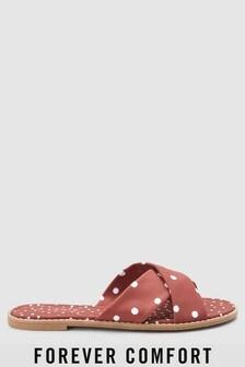 Forever Comfort® Cross Strap Mule Sandals