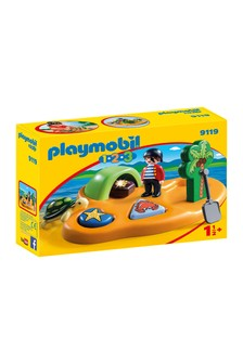 Playmobil® 1.2.3 Pirate Island With Shape Sorting Function