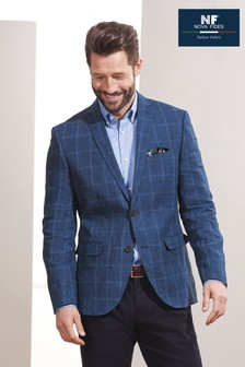Signature Linen Slim Fit Blazer