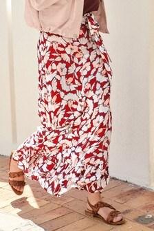 Frill Hem Maxi Skirt