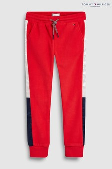 Tommy Hilfiger Jogginghose aus Polar-Fleece, rot