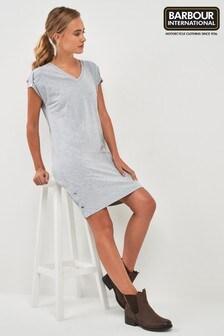 Barbour® International Grey V-Neck T-Shirt Dress