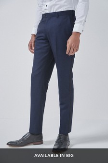 Textured Tuxedo Suit: Trousers