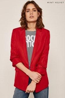 Mint Velvet Red Chilli Double Breasted Blazer