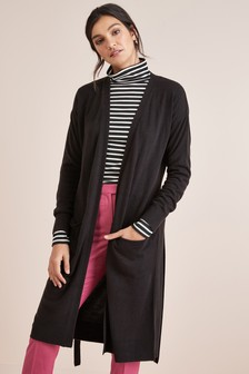 Cosy Belted Longline Cardigan