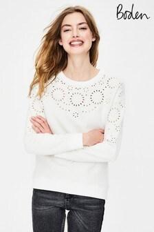 Boden Ivory Arabella Sweatshirt
