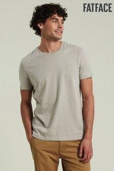 חולצת טי עם צווארון מעוגל של FatFace דגם Lulworth