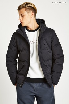 Jack Wills Black Hatfield Cotton/Nylon Jacket