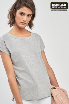 Barbour® International Grey Marl Pocket Logo T-Shirt