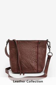Leather Grainy Bucket Bag
