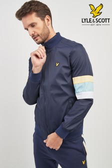 Lyle & Scott Navy Sleeve Stripe Track Top