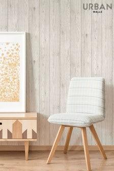 Urban Walls White Lumber Wood Wallpaper