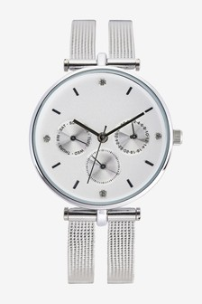 Split Strap Mesh Watch